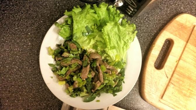 Laap Neua (Laotian beef salad) ລາບ ຊີ້ນງົວຊີ້ນຄວາຍ