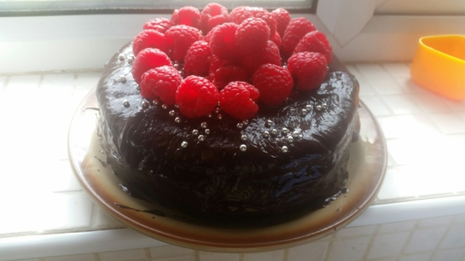 Dairy Free Chocolate and Raspberry Cake