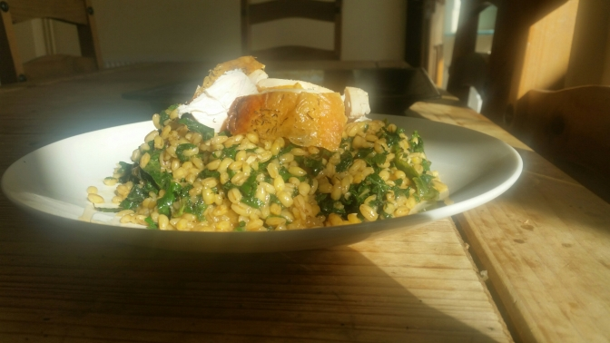 Nettle and Pearl Barley Risotto